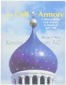 The Colt Armory Diverse Illustrationen enthaltend, wird die Geschichte der Firma Colt in Hartford,