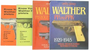 Konvolut von 4 Büchern Walther 1. Know your Walther P38 pistols, Models Armee, MP, HP, P38, by E.
