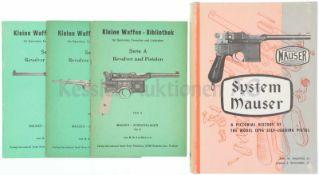 Konvolut von 1 Buch und 3 Heften 1. Kleine Waffen-Bibliothek, Serie A, Revolver und Pistolenj,