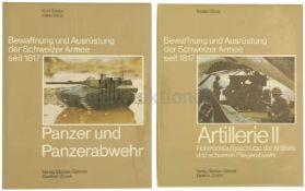 """Konvolut von 2 Büchern """"Bewaffnung und Ausrüstung der Schweizer Armee seit 1817"""" 1. Band 9:"""