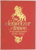 Die Schweizer Armee in den Kriegsjahren 1939-1941 Herausgeber Oberst I. Gst. Roger Masson, farbige