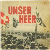 Unser Heer, K.Egli, Verlag Otto Walter AG Olten 1938 173-seitiges Nachschlagewerk mit 123 Fotos über