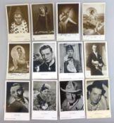 Sammlung Autogrammkarten, tlw. handsigniert, u.a. Johannes Heesters, Hans Albers, Theo Lingen, Hanni