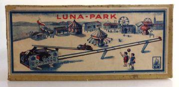 """Blechspielzeug """"Luna Park"""", im OK (dieser min. besch.), gem. Germany - Bildmarke """"Schiff"""" und S&"""