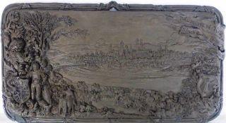Reliefbild - Ansicht von München - bez. München 1632 Schlüsselübergabe an König Gustav Adolf von