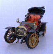 Schuco Spielzeugauto, Marke Opel, sog. Doktorwagen, Modell 1909, Schuco Nr. 1228