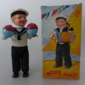 "Spielwarenfabrik Carl Max - Creidlitz bei Coburg, Matrose ""Boys Ahoi"", 1950er Jahre im OK, Blech /"