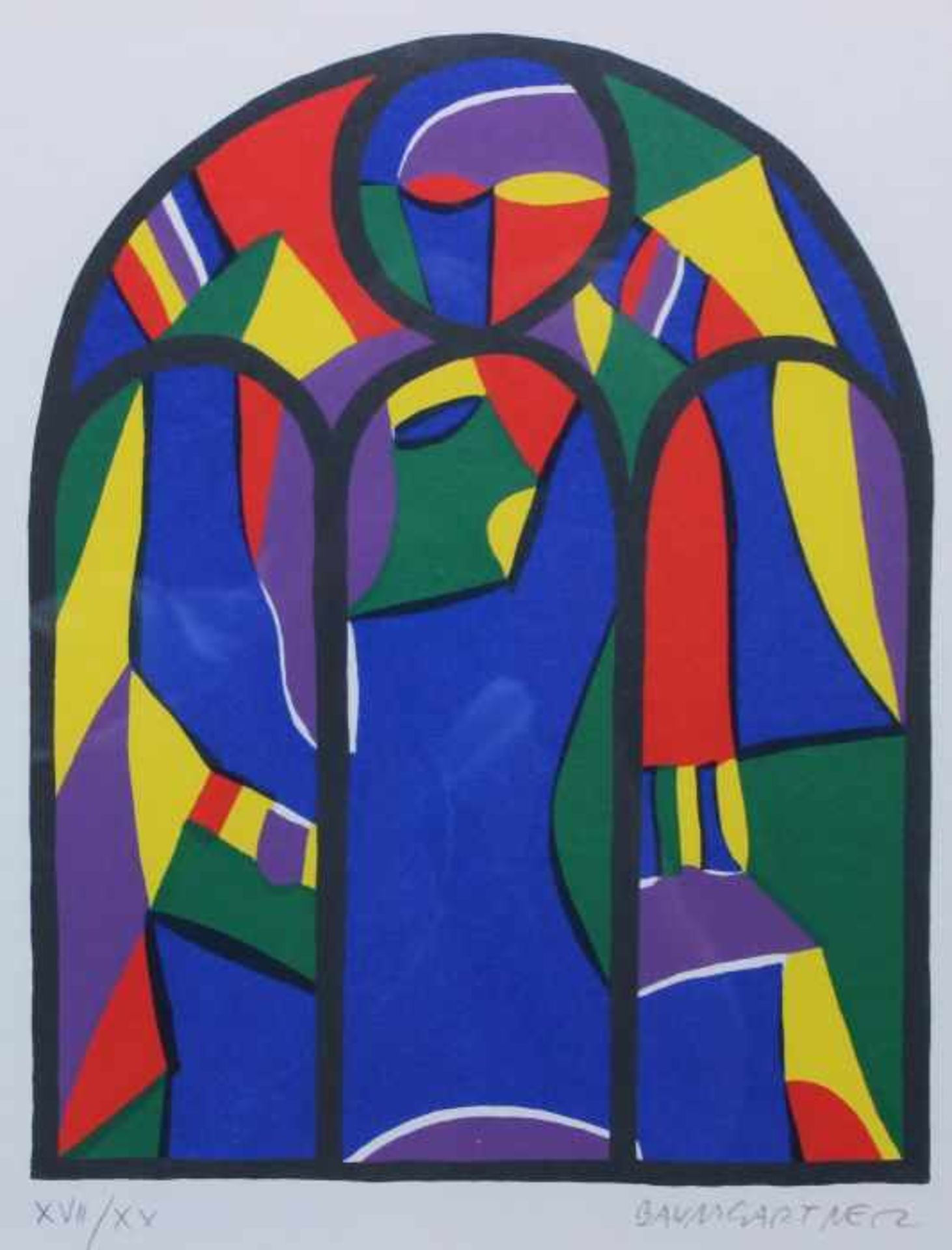 "Los 52 - Serigraphie - Fritz Baumgartner (1929 Aurolzmünster -2006) ""Ohne Titel"", r.u. Bleistiftsignatur, Nr."