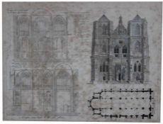 """Stich - Frankreich 19.Jahrhundert """"Cathedral de Ratisbonne"""", gest. von A. Kurz, Altersspuren,"""
