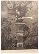"""Radierung - Prof. Ernst Fuchs (1930 Wien 2015) """" Don Juan de Austria """", 1978, r.u."""