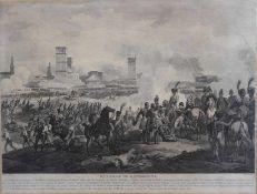 """Grafik nach Naudet - Paris 19.Jahrhundert """"Bataille de Ratisbonne"""", Lebeau sculpsit, Plattenmaße ca."""