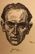 "Grafik - Emil Betzler (1892 Kamen / Westfalen - 1974 Frankfurt a. M.) ""Herrenbildnis, wohl Jakob"