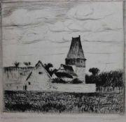 """Radierung - Alexander Olbricht (1876 Breslau - 1942 Weimar) """"Landschaft"""", l.u. Bleistiftsignatur,"""