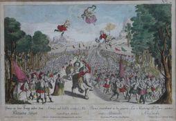 """Radierung - Balthasar Sigmund Setletzky (1695 Augsburg 1771) """"Porus in den Krieg wider den Alexander"""
