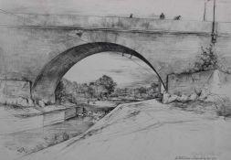 """Lot Grafik - Hermann Mayrhofer - Passau (1901 Passau - 1976, tätig in Stuttgart und Passau) """"Am"""