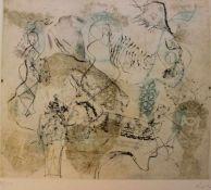 "Farbradierung - Arthur Langlet (1929 Berlin - Charlottenburg) ""Drei Grazien"", r.u."