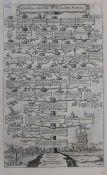 """Kupferstich - Dominicus Custos (Niederlande c.1550-1612, tätig in Augsburg) """"Stammbaum Carolingi"""