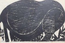 """Holzschnitt - HAP Grieshaber (1909 Rot an der Rot - 1981 Eningen unter Achalm) """""""