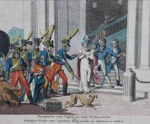 """Lithographie - Johann Michael Voltz zugeschrieben (1784 Nördlingen 1858) """"Buonapartens erstes"""