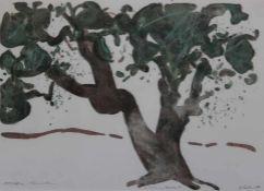 "Farblithographie - Oskar Koller (16.10.1925 Erlangen - 17.5.2004 Fürth) ""Baum, Kreta"", r.u."