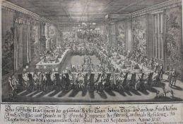 """Kupferstich - Andreas Geyer (Augsburg - 1729 Regensburg) und Johann Matthias Steidlin (1717-1754) """""""