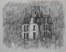 "Lithographie - Paul Flora (1922 Glurns - 2009 Innsbruck) ""Ruine"", r.u. Bleistiftsignatur,"