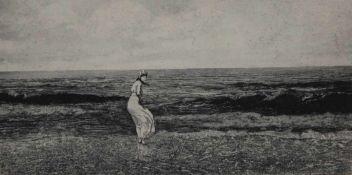 "Radierung - Max Klinger (1857 Leipzig - 1920 Großjena) ""Am Meer"", aus: Intermezzi Opus IV,"