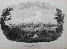 """Lithographie - Monogrammist MD (1.H.19.Jahrhundert) """"Regensburg (Ansicht von Winzer) - im"""