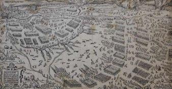 """Lot Stiche 1.Holzschnitt - 16./17.Jahrhundert, """"Inolstadium - Belagerung der kaiserlichen Truppen am"""