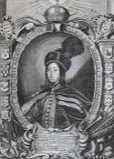 """Lot Kupferstiche 1. """"Kircheninterieur nach Ehrenberg"""", gest. von Anton Joseph von Prenner (1683-"""