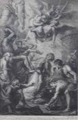 """Kupferstich - Philippe Joseph TASSAERT (1732-1803) """"Das Martyrium des Hl. Stephan"""", nach Peter"""