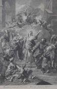 "Kupferstich - Paris 18.Jahrhundert ""Magnificat anima mea Dominum"", nach Jean JOUVENET (1644 Rouen -"