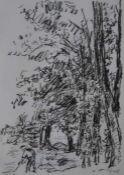 "Lithographie - Franz Frank (1897 Kirchheim unter Teck - 1986 Marburg) ""Am Waldrand"", r.u."