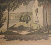 """Lithographie - Adolf Erbslöh (1881 New York - 1947 Irschenhausen) """"Sommerlandschaft"""", r.u."""