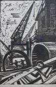 "Linolschnitt - Sella Hasse (1878 Bitterfeld - 1963 Berlin) ""Rotterdam"", r.u. Bleistiftsignatur,"