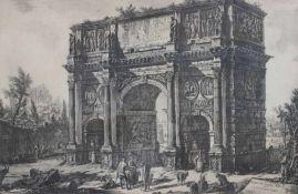 """Radierung (Spätabzug) - Giovanni Battista Piranesi (1720 Mogliano Veneto - 1778 Rom) """"Veduta Dell"""