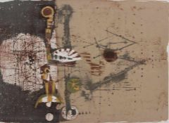 "Farblithographie - Johnny Friedlaender (1912 Pless - 1992 Paris) ""Abstrakte Komposition"","