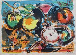 """Farblithographie - Ernst HASSEBRAUK (1905 Dresden 1974) """"Stillleben"""", r.u. Bleistiftsignatur,"""