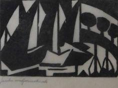 "Holzschnitt - Jacoba HEEMSKERCK VAN BEEST (1876 Den Haag -1923 Domburg) ""Komposition"", l.u."