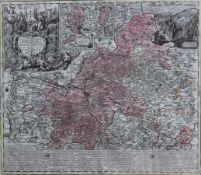 "Kupferstich - Matthäus Seutter (1678 Augsburg 1757) ""Tabula geographica novissima Principalis"