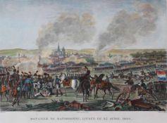 """Kupferstich - Francois Pigeot (Paris 1775 - nach 1820) """"Bataille de Ratisbonne, Livrée Le 23 Avril"""
