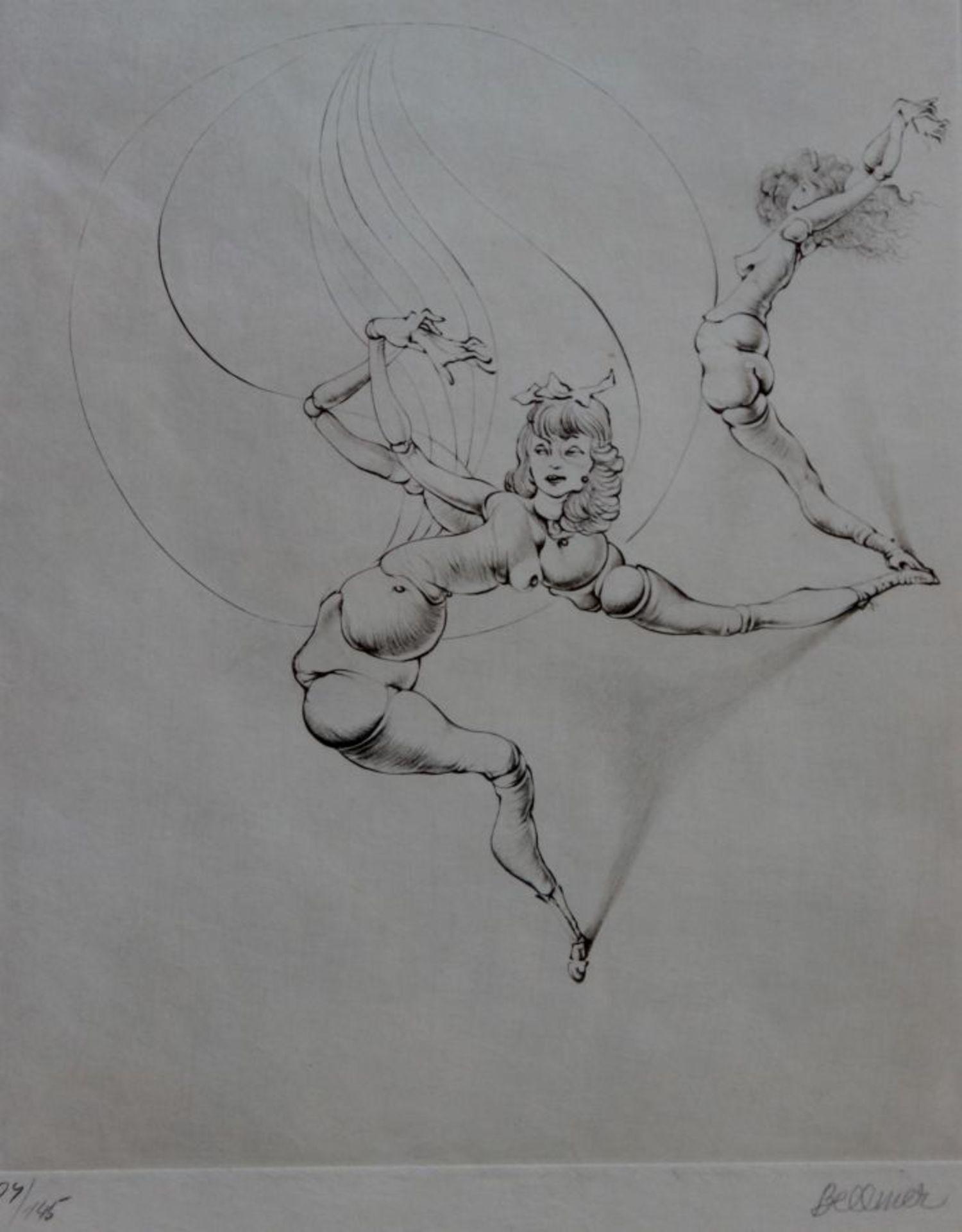 """Radierung - Hans Bellmer (1902 Kattowitz - 1975 Paris) """"Tanzende Frauen"""", r.u. Bleistiftsignatur,"""