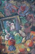 """Gemälde - Theodor Gebürsch (1899 - 1958 Mainz) """"Herbst-Stillleben"""", r.u. monogrammiert TG und"""