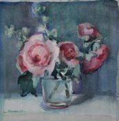 """Aquarell - Karoline Ammer (1873 Landau - 1935) """"Stillleben"""", l.u. signiert, lasierende Farben auf"""