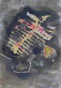 """Mischtechnik - Hans Geistreiter (1910 - 1996 Kallmünz) """"Schwebendes Zeichen"""", r.u. signiert Geist."""