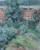 "Aquarell - Paula Deppe (1887 Rokycany - 1922 Passau) ""Gartenstück"", l.u. monogrammiert PD,"