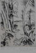 """Radierung - Paul Kleinschmidt (1883 Bublitz - 1949 Bensheim) """"Waldlichtung"""", l.u. signiert und"""