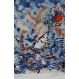 "Farblithographie - Christian Ludwig Attersee (1940 Pressburg) ""Ohne Titel"", r.u. mit Bleistift"