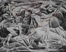 """Lithographie - Max Ackermann, (1887 Berlin - 1975 Unterlengenhardt) """"Ausdruckstanz II"""", r.u."""