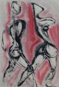 "Mischtechnik - Anja DECKER (Berlin 1908-1995 München) ""Figurale Komposition"", r.u. signiert,"